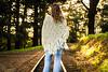 naomi161015-025 (Naomi Creek) Tags: 52picturesofme selfportrait selfdiscovery train track trees forest denim jeans shawl crochet 70s sunrise morning light portraiture portrait girl woman golden confident hippie hippy boho