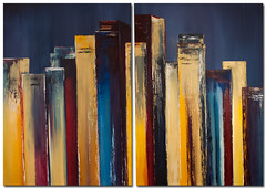 Skyscraper-Acrylbild-handgemalt-Antoniya-Slavova (Wandbilder Antoniya Slavova Art) Tags: acrylbilder acrylbild skyline bordeaux slavova