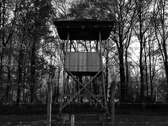 Watchtower, Kamp Vught (Miranda Ruiter) Tags: vught concentrationcamp war memorial camp blackandwhite photography watchtower