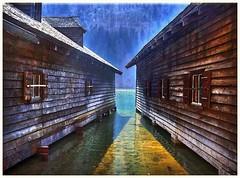Bootshtten im Knigssee (almresi1) Tags: knigssee bootshtten see lake water bavaria berchtesgaden architektur