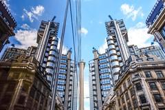 Split Continuum (Douguerreotype) Tags: london uk glass symmetry british buildings lloyds window city architecture britain reflection gb mirror urban england