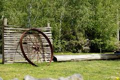 (Laszlo Papinot) Tags: famousflickrfive oceangrove wheel oakdenewinery winery garden fence log