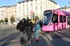 "2016-12-01, Genève, Rond-Point de Plainpalais, Be 6/10 1820 ""Monochrome Rose"" (Fototak) Tags: tram strassenbahn genève stadler tango monochromerose switzerland tpg geneva 1820"
