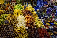 (Kathleen Waters Photography) Tags: market bazaar grandbazaar istanbul turkey spices fruit ceramic izmirblue