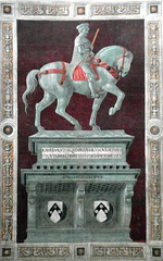 florence horse and rider (kexi) Tags: florence firenze florencja italy europe toscany tuscany masterpiece afternoon old ancient church samsung wb690 october 2015 text horse rider duomo basilica cathedral interior fresco wall vertical instantfave