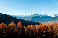 Autumn in Switzerland (rom_guerin) Tags: autumn automne landscape paysage tree mountains snow wild valley exterior nature colorful sky blue