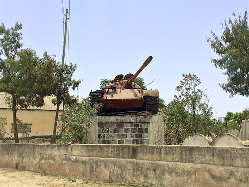 Soviet T-54 tank supplied to Eritrea