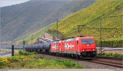 RheinCargo 185 632-7 + 185 604-6 @ Boppard