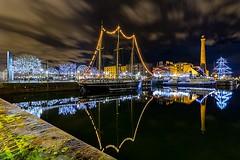 Albert dock (saile69) Tags: albertdock albertdockliverpool liverpoolecho reflection reflections waterfront water nightphotography tallship docks visit liverpool