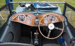 SCE_8732 (staneastwood) Tags: staneastwood stanleyeastwood morrisregister vintage car vehicle afj191 mgpa mg sportscar tourer dial gauge steeringwheel classic dashboard electronics