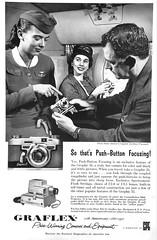 1950s Graflex Camera Ad (Christian Montone) Tags: ads advertising vintageads adverts vintage print printads 1950s midcentury