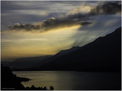 Moments before Sunrise (Luc V. de Zeeuw) Tags: clouds comolake mountain sunrise water gravedona lombardia italy