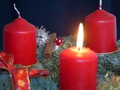 kleine Dinge-small things (Anke knipst) Tags: adventskranz advent vrest kerze candle fliegenpilz zimt cinnamon
