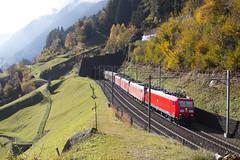185 102 - Wassen (imartin92) Tags: wassen cantonofuri switzerland db deutschebahn cargo gotthard railway railroad freight train class185 bombardier traxx locomotive alps mountains
