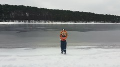 Break the ice. (Anne Susan Karine) Tags: frozen ice finland winter firstice firstsnow boy winterbeauty itmeri kallahti