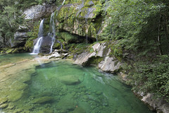 waterfall virje (cyberjani) Tags: river soča trenta slovenia valley mountains alps outdoor forest water