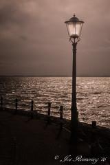Lantaarnpaal _ Lamppost (josreimering1) Tags: lantaarnpaal lamppost dark darkness sea lake water meer ijsselmeer urk noordoostpolder kade straat street