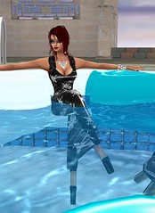 Pool Party 2 (SoakinJo) Tags: imvu wetlook wetclothes soakinjo highheels wetdress clothed pool extremeheels