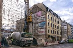 DSC09682a (Janos Kertesz) Tags: newhouse construction building architecture heaven site facade framework blue crane house housing skeleton concrete scaffolding