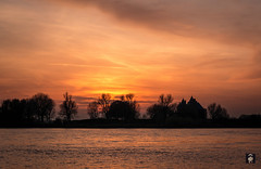 Loevestein,......23-11-2016 (@FTW FoToWillem) Tags: landscape landschap holland hollanda holandes holande hollande castle kasteel monument rijksmonument loevestein netherlands travel rivier river merwede water tree trees bomen zon sun sunset willemvernooy fotowillem ftw reflectie reflections reflexion sunshine colorful color