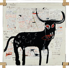 Beef Ribs Longhorn - Jean Michel Basquait (lennygaunt) Tags: jean michel basquiat beef ribs longhorn painting color bull insperation