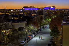 Federal Hill in Baltimore (crabsandbeer (Kevin Moore)) Tags: mtbankstadium night baltimore city cityscape evening innerharbor longexposure moon purple ravens sky supermoon engagement photoshoot love baltimoreravens stadium sunset rowhouses townhouse holdinghands people couple