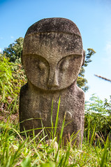 The Martian (Oliver J Davis Photography (ollygringo)) Tags: megalith mysterious ancient stone carving lore lindu national park bada valley indonesia sulawesi rock history heritage civilisation civilization travel nikon d90 alien figure unsolved origin statue standing