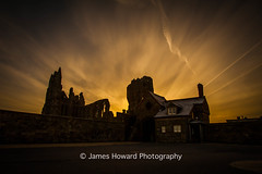 The Dark side of Whitby Abbey (jameshowardphotography) Tags: whitby abbey architecture white winter shadows shade landscape wall sunrise house yorkshire north northyorkshire northeast northern morning rise clouds