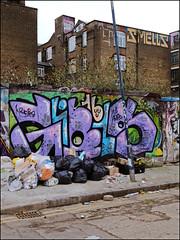 (Alex Ellison) Tags: eastlondon urban graffiti graff boobs hackneywick sweettoof smells rooftop roller