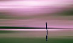14 (mesana62) Tags: pink creative photoshop photography sunset beach abstract sevilla green shadows silhouette siluetas sombras playa rosa manipulacion exploration cylon13 mar mirror reflection spain skyline summer