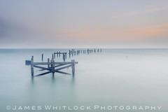 Destination Jetty (James Whitlock Photography) Tags: uk england dorset swanage pier jetty old sea water sun sunrise wood long exposure light muted mist fog nikon d810 lee filters gitzo