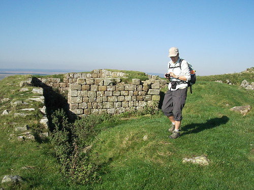 Hadrian's Wall & Ronnie at Turret 44B.