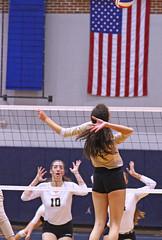 IMG_8129 (SJH Foto) Tags: girls volleyball high school york delone catholic team teen teenager net battle spike block action shot jump midair
