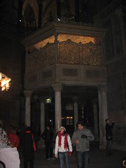 Hagia Sofia Church, begun 532 AD. The Sultan's box for prayers. (Kevin J. Norman) Tags: hagiasofia istanbul turkey