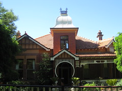 """Locksley"", a Queen Anne Mansion - Ballarat (raaen99) Tags: door city chimney house building brick tower home architecture stairs facade post architecturaldetail queenanne pillar steps victorian entrance australia victoria artnouveau porch victoriana villa castiron mansion nouveau residence housename 20thcentury frontdoor edwardian gable ballarat halftimbered 1900s redbrick entranceway jugendstil capping fretwork 1901 countryvictoria websterstreet locksley belleepoque domesticarchitecture twentiethcentury bellepoque widowswalk websterst architecturalfeature gingerbreading largehouse queenannestyle clinkerbrick queenannearchitecture brownbrick edwardiana provincialvictoria pepperpottower federationqueenanne federationqueenannearchitecture architecturallydesigned woodenfretwork artnouveaufretwork ornamentaltower federationqueenannestyle castirongingerbreading castironwidowswalk frederickholst frederickwilliamholst"