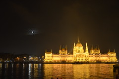 DSC_1556 (boumako) Tags: moon night lights hungary budapest parliament