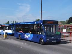 royal spondon flyer 483 Derby (Guy Arab UF) Tags: bus buses station branded derbyshire royal trent solo barton derby 483 optare m950 wellgladegroup fj09mwl