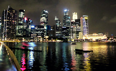 Night light (T.Yura) Tags: city light shadow summer vacation night river singapore reflect attractive 2011 lightshop