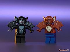 LEGO MINIFIGURES : Man-Bat & Vampire Bat (2) (COLLECTOR FIGURES) Tags: kill lego vampire bat we will batman the manbat minifigures