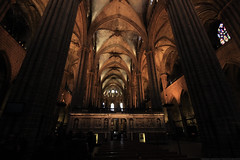 Gothic (Magryciak) Tags: barcelona trip travel cruise church architecture canon dark eos spain europe cathedral interior gothic 2014