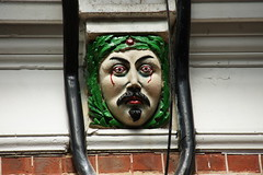 A grotesque in Westbourne Arcade (Henry Joy's Arcade), Westbourne, Bournemouth, Dorset (Alwyn Ladell) Tags: gargoyle dorset bournemouth grotesque westbourne corbel westbournearcade henryjoysarcade