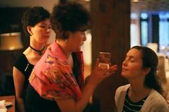 Bride's Makeup (Kevin_Barrett) Tags: wedding film canon bride fuji ae1 superia missouri 400 135 branson xtra canonfd50mmf14