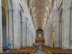 Winchester Cathedral, Interior, Hampshire (JackPeasePhotography) Tags: door west tower church window abbey architecture cathedral interior gothic arches hampshire belltower norman nave seats historical winchester minster winchestercathedral vaulting thegalaxy