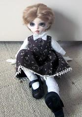 New Dress (Etsy) (Shirelae) Tags: bjd fairyland abjd balljointeddoll whiteskin yosd asianballjointeddoll tinybjd yukijiro littlefee littlefeeanteelf sunnybobo motylalka leekeworldroyalchampagne
