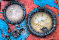 steam fair dials detail 01 HD jul 14 (Shaun the grime lover) Tags: detail warrington peeling paint panel cheshire fair steam gauge hdr daresbury