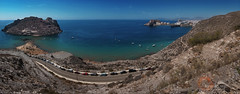 Aguilas (N4n0) Tags: summer beach coast view panoramic murcia panoramica verano pan aguilas costacalida playaamarilla isladelfraile sweeppanorama nex6