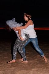 De Bende van Lynn (Dennis Bevers) Tags: girls friends beach fun veil belgium bachelorette wrestling lynn jeans barefoot be tanktop ribbon brunette oostende bacheloretteparty flanders flowercrown
