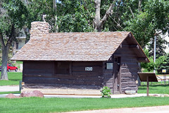 """Rufus """"Pap"""" Madison Cabin (Roamer61) Tags: museum southdakota cabin 1800s historic settler worldtrekker"""