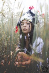 Indian Girl (Charlie Lamare) Tags: portrait france nature girl beauty fashion effects photography women couple indian champs photograph mode limousin bl