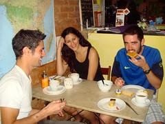 Ontbijt in het hostel